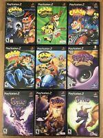 Crash Bandicoot and Spyro games (Playstation 2) PS2 TESTED