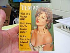 TEMPO MINI PULP MAGAZINE MARCH 1956, SARITA MONTELL, AMERICAN LEAGUE BASEBALL