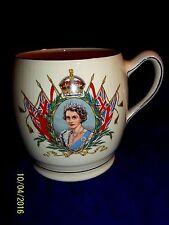 1953 CORONATION Royal Winton Queen Elizabeth II  LARGE  Porcelain  Mug