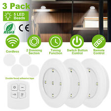 3PC Wireless Closet Cordless Night Lights W/ Remote Control Under Cabinet Lamp