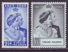 Virgin Islands 1949 SC 90-91 MH Set Silver Wedding