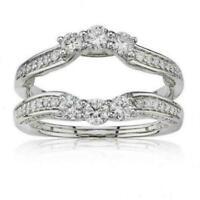 14K White Gold Over 1.52Ct Round Diamond Ladies Enhancer Engagement Wedding Ring