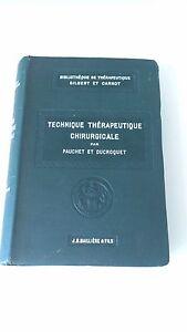 PAUCHET & DUCROCQUET - Technique thérapeutique chirurgicale - Baillière & Fils