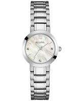 Bulova Women's Quartz Diamond Accents Mother of Pearl Dial 26mm Watch 96P164