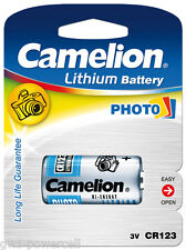 2 x Camelion CR123 CR123A CR17345 Lithium Photo 3 Volt Blister Neu & OVP