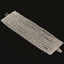 New Sparkly Shiny Clear White Austrian Crystal Tennis Chain Bracelet Women Gift