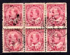 CANADA BOOKLET PANE #90b 2c, 1903 KEVII PANE/6, VG-F, USED