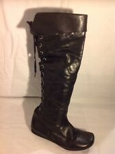 Schuh Black Knee High Leather Boots Size 4