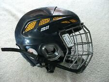 Cascade M11 Mark Messier Hockey Helmet Adult Sz Small W/ Matching Cage Blue Gold