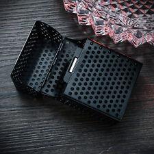 Men Black Aluminum Metal Cigar Cigarette Box Holder  Storage Case New