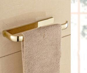 Gold Polished Brass Wall Mount Single Towel Bar Holder Bathroom Accessory mba844