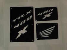 Honda TRX 400X 400 X  EX Fender Warning Tags Black /NO decal