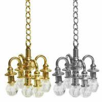 Puppenhaus Miniatur Möbel 1:12 Puppenhaus Zubehör Mini Lampe Kronleuchter F S7A7
