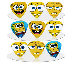 10pcs 1.0mm Spongebob Guitar Picks Plectrums Printed Both Sides
