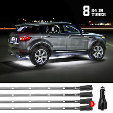 8pc White Car Truck Underglow Under Body Neon Accent Glow LED Lights Kit 3Mode