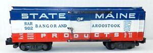 "American Flyer S #982 BAR Bangor & Aroostook State of Maine BOXCAR ""VG"" ~ T113J"