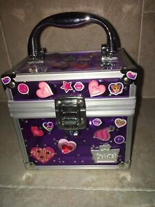Caboodles Purple Small Makeup / Accessories Travel / Carry Case Box / Decorated