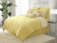 Sun Drop Reversible Comforter Set Full/queen White Dena Home Queen 100% Cotton