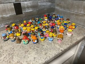 Huge Lot of 64 Fisher-Price Little People Good Used Played With Condition