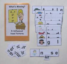 Teacher Made Literacy Center Resource Game R-Influenced Vowels er, ir & ur