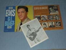 "1960 Elvis ""G.I. Blues"" LP W/Elvis Is Back Inner Sleeve & Promo Photo (Rare)"