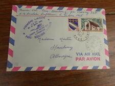 FDC LETTRE AIR FRANCE 27/03/1965 1ere LIAISON AERIENNE PARIS-HAMBOURG