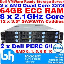 Dell Cloud Twin Quad Core 64GB ECC RAM FS12-NV7 AMD VMWare Ready Storage Server