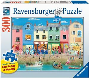 Ravensburger Down by The Sea Large Format 300 Piece Jigsaw Puzzle for Adults NEW