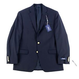 Formal Event Blazer Classic Blue Mens Blazer 80s Blue Sport Coat with Gold Buttons Mens Size 48 Vintage Gold Button Sport Coat