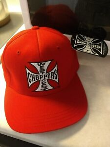 West Coast Choppers Jesse James Vintage Snapback Hat Cap Red. NEW with TAGS.L-XL