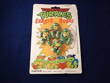 BRAND NEW Teenage Mutant Ninja Turtles Eraser Dudes TMNT Mirage 1989 Retro