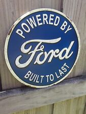 FORD BUILT TO LAST METAL SIGN VINTAGE LOOK 12 BY 12 INCHES RAISED LETTERS GARAGE