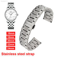 Watch Band Wrist Stainless Steel Quick Release Strap 16-24mm Link Belt Unisex