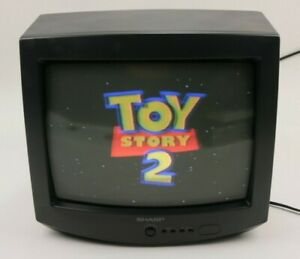 """Vintage Retro Sharp 13H M60 CRT Color TV Video Gaming With Remote 13"""""""
