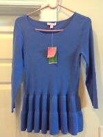 NWT SIZE Small LILLY PULITZER BECKON BLUE CELENE SWEATER Ret.$128.00