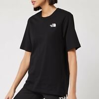 BNWT The North Face Women's Black Simple Dome T-shirt M Medium 10 12 Boyfriend
