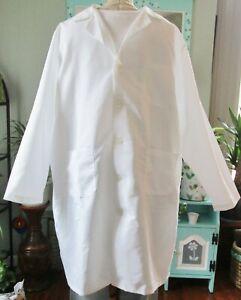 """Best Medical L/S Men Lab Coat Button 3 Pocket 42"""" Length Sz XS - 2X White"""