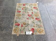 3' X 5' Beautiful Full Blooming Floral Gorgeous Shabby Handmade Needlepoint Rug