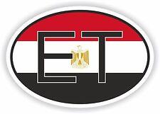 L'Égypte et pays africains code Ovale Drapeau Autocollant Pare-chocs Autocollant Voiture Vélo Tablette