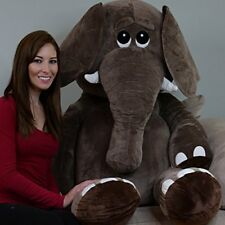 Stuffed Animal 5 Feet Giant Elephant Microfiber Body Plush Huggable Cuddle Toy