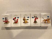 NEW Disney Hallmark Ready Set Snow Set of 5 Ornaments Mickey Minnie Donald Goofy