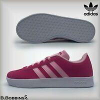 👟 SALE Adidas Neo VL Court 2.0 MAGENTA Girls Trainers Size UK 10 Infant EU 28