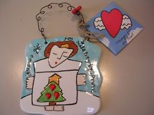 """New in box 4"""" Silvestri ceramic plaque """"You are a gift that."""" Christmas"""