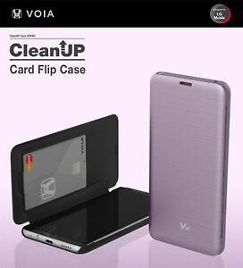 VOIA LG V30 & V30 Plus CleanUp Premium Card Flip Case - 4 Colors