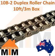 "INDUSTRIAL ROLLER CHAIN 10B-2 - 5/8"" PITCH Duplex 10Ft 3m Box 10B"