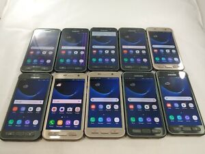 LOT of 10 Samsung Galaxy S7 Active G891A GSM Unlocked Smartphone Assorted  #A062
