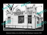 OLD POSTCARD SIZE PHOTO OF HAMMOND INDIANA WHITE CASTLE HAMBURGER STORE c1940