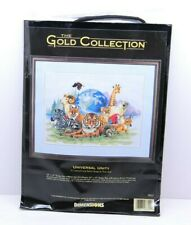 """VTG 1996 Dimensions Gold Collection #3822 """"Universal Unity"""" Counted Cross Stitch"""