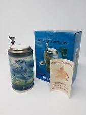 1991 Sea World Stein Bottlenose Dolphin Anheuser-Busch, Collectors/Limited Edit