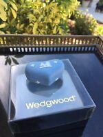 Wedgwood Jasperware MINI HEART BOX White Blue ENGLAND IN ORIGINAL BOX